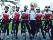 منتخب السيدات للدراجات يتوج بذهبية البطولة العربية فى سباق ضد الساعة
