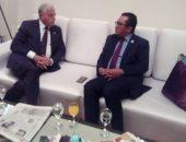محافظ جنوب سيناء يلتقى بسفير كازاخستان على هامش منتدى شباب العالم