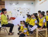 على طريقة أبلة فضيلة.. فاطمة شرف الدين تعلم أطفال الشارقة بالحكايات المصورة