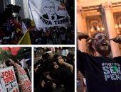 مظاهرات حاشدة فى البرازيل ضد إجراءات التقشف