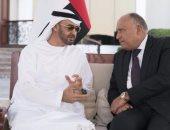 سامح شكرى يبحث مع ولى عهد أبو ظبى سبل تعزيز العمل العربى المشترك