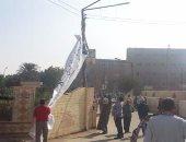 إزالة 140 إعلان بدون ترخيص بشوارع وميادين بنى سويف