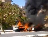 إصابة سائق فى انقلاب سيارة على الطريق الصحراوى بالبحيرة