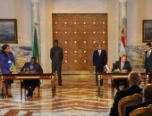 الرئيس السيسى يستقبل نظيره الزامبى بقصر الاتحادية