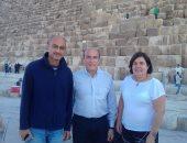 بالصور .. عمدة مدينة مونتفديو عاصمة الأورجواى يزور الأهرامات