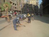 تحرير 23 محضر نظافة وإشغالات ورفع 1.5 طن مخلفات فى حملة بالقناطر الخيرية