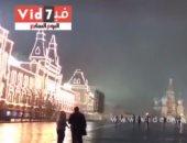 فيديو .. من الميدان الأحمر.. شاهد نجمة الكرملين تلمع فى سماء موسكو بإنتظار مونديال 2018