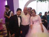 صور.. حفل زفاف محمد منصور على الجميلة حسناء السعدنى فى جو عائلى