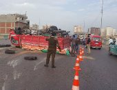 مصرع عاملين فى حادث تصادم بطريق السادات كفر داوود