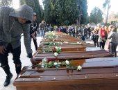 صور.. تشييع جثامين 26 مهاجرة نيجيرية غير شرعية فى إيطاليا