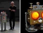 فنان إسبانى يحول القطع المهملة لأباجورات على شكل روبوتات