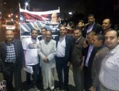 صور.. مستقبل وطن بالإسكندرية ينظم وقفة تأييد للرئيس أمام سان ستيفانو