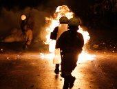 صور.. اشتباكات عنيفة باليونان فى ذكرى الانتفاضة الطلابية عام 1973