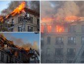 حريق هائل فى مبنى سكنى بنيويورك ورجال الإطفاء تحاول إخماد النيران