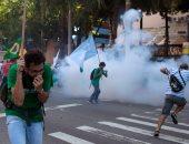 صور.. اشتباكات فى البرازيل احتجاجا على إلغاء محاكمة المتهمين بالفساد