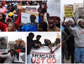 الآلاف يتظاهرون فى شوارع زيمبابوى للمطالبة بتنحى موجابى