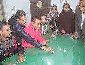 قرعة علانية لاستكمال توزيع باكيات تحيا مصر بمدينة بنى سويف