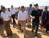 صور.. وزراء خارجية ألمانيا والسويد والاتحاد الأوروبى يزورون مخيمات الروهينجا