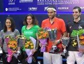 وزير الرياضة يهنئ أبطال مصر للاسكواش الفائزين ببطولة هونج كونج الدولية