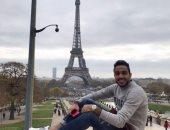 صور.. كهربا فى جولة أمام برج أيفل بفرنسا
