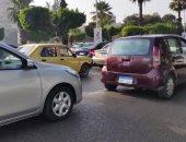 النشرة المرورية.. كثافات متوسطة أعلى محاور وميادين القاهرة والجيزة