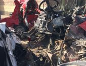 إصابة سائق فى انقلاب سيارة بالمنوفية