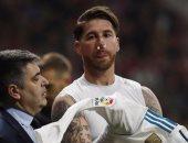 راموس يتعرض لكسر فى الأنف خلال لقاء ديربى مدريد