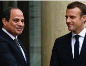 """""""ماكرون"""" يهنئ الرئيس السيسى بنجاح القمة العربية الأوروبية"""