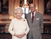 شاهد آخر فوتوسيشن للملكة إليزابيث والأمير فيليب فى عيد زواجهما