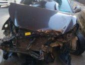 زحام مرورى إثر حادث تصادم أتوبيس وسيارة ملاكى فى مدينة نصر