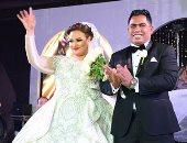 """فيديو وصور.. """"ويزو"""" واللقطات الأولى من حفل زفافها على شريف حسنى"""