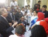 تلميذة تطالب محافظ بنى سويف بتوفير الإنترنت بالمدارس