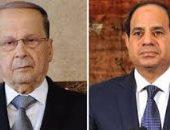 السيسي يتلقى اتصالا هاتفيا من الرئيس اللبنانى ميشال عون
