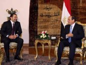 السيسي يؤكد للحريرى رفض مساعى التدخل الأجنبى فى الشئون الداخلية للبنان
