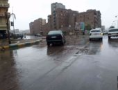 سقوط أمطار غزيرة على محافظة الغربية