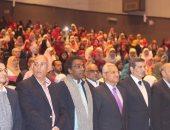 فرقة رضا للفنون الشعبية تبهر جمهور المنيا فى برنامج تنمية جنوب الوادى