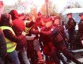 صور.. اشتباكات فى فرنسا خلال مظاهرة للسائقين تطالب بتحسين ظروف العمل