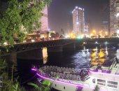 غلق كوبرى الجلاء بوسط القاهرة وبدء فتح أجزائه لعبور باخرة سياحية