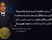 """الرئيس السيسى يوجه بإنشاء نصب تذكارى لشهداء حادث مسجد الروضة"""" تحديث"""""""