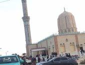 قرية الرحامنة بدمياط تتشح بالسواد لاستشهاد احد أبنائها بحادث مسجد الروضة