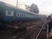 مصرع 3 أشخاص وإصابة 10 فى حادث خروج قطار عن القضبان شمال الهند