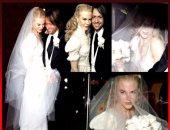صور من حفل زفاف نيكول كيدمان وكيث أوربان.. وتفاصيل فستانها العاجى
