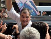 """صور.. رئيس الإكوادور السابق رافاييل كوريا يعود إلى بلاده لمحاربة """"الخونة"""""""