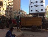 بالصور.. شكوى من التعدى على الطريق العام فى مدينة مغاغة بالمنيا