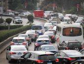 كثافات مرورية بسبب حريق عمود إنارة بمنزل كوبرى أكتوبر اتجاه مدينة نصر