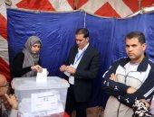 """عمر الأيوبى يدلى بصوته فى انتخابات الترسانة """"صور"""""""