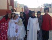 صور.. طلاب مدرسة على بن ابى طالب بالعبور يحتفلون بالمولد النبوى الشريف