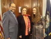 جيهان السادات تشارك بأمريكا فى ذكرى 40 عاما على زيارة الرئيس الراحل للكنيست