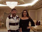 لطيفة تنشر صورة مع رئيس الشيشان.. وتعلق: شكرا على كرم الضيافة