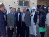 محافظ شمال سيناء يوجه بإقامة مكان انتظار لأهالى الشهداء أمام وحدة الروضة